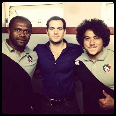 Henry with memebers of the Jersey Rugby Team