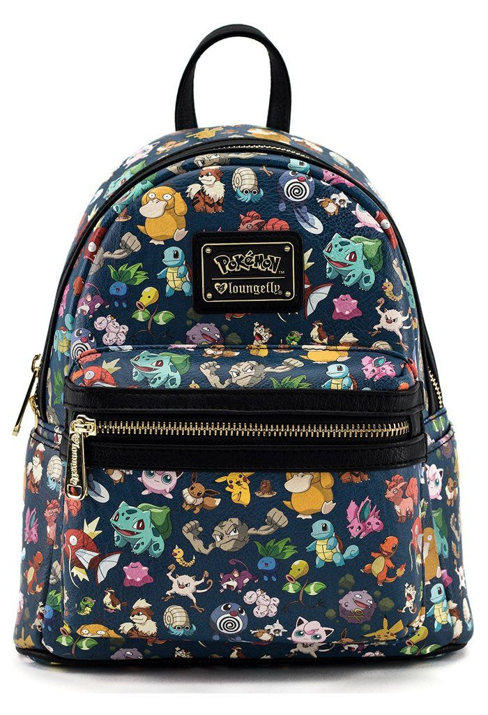 Pokemon First Generation Print Faux Leather Mini Backpack   b a g s ... cbfc82911c7