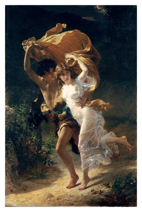 The Storm By Pierre Auguste Cot Fine Art Print Poster Paper Etsy In 2021 Renaissance Art Paintings Classic Art Posters Art Prints