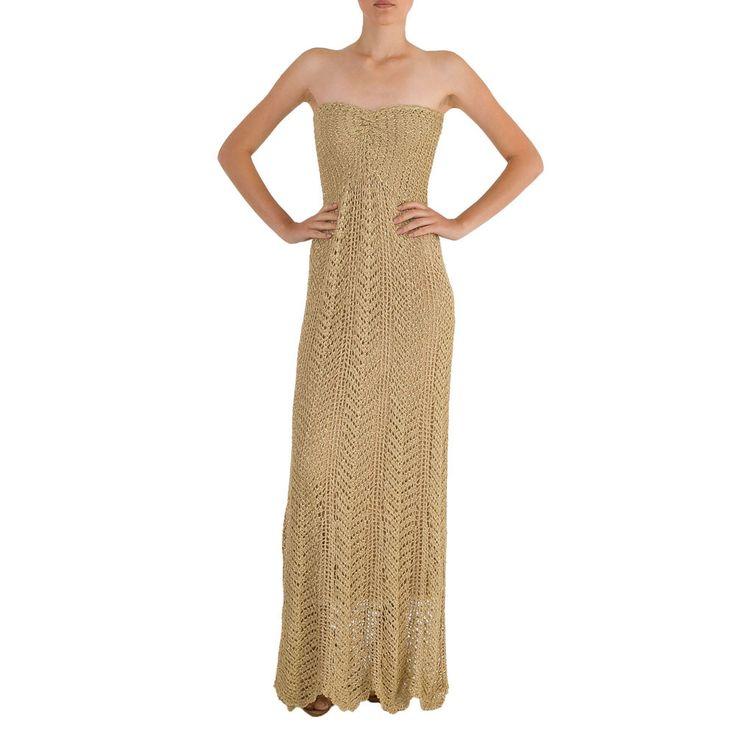 Vestido longo de crochê        GIOVANA CROCHET: Hook, Crochet Giovana, Looper, Crochet Dresses, 18 Crochet, Dresses, Crochet Inspiration, Crochet Clothing