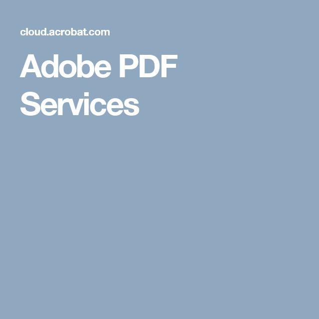 Adobe PDF Services