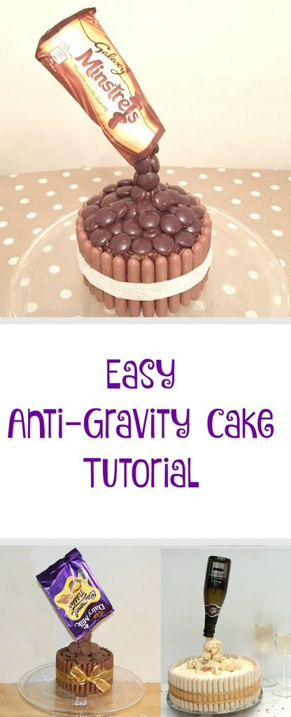 Chocolate pouring cakes also known as anti gravity cakes are easy to make and look impressive. This tutorial shows you how simple it is.