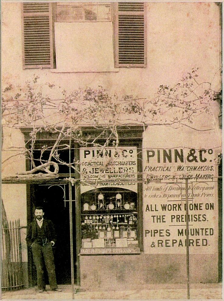 Original shop in Long Street, Cape Town 1893.