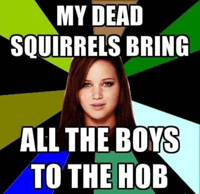 I just... I just don't know. This is either hilarious or horribly disturbing. But it's Hunger Games, so I'm pinning it.