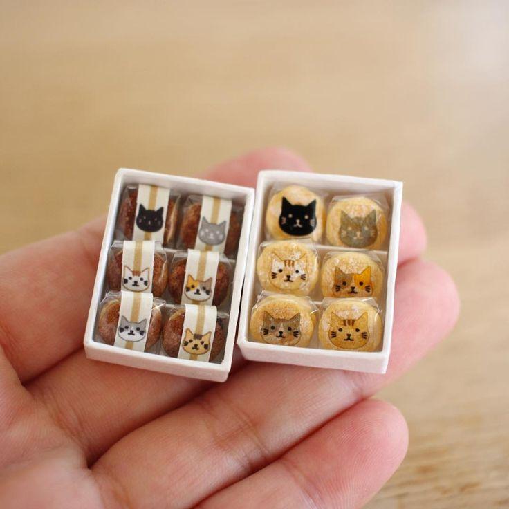 「猫どら」と「猫ブッセ」mini Japanese cats'  sweets