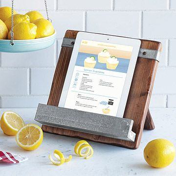 UncommonGoods: Reclaimed Wood Cookbook Stand