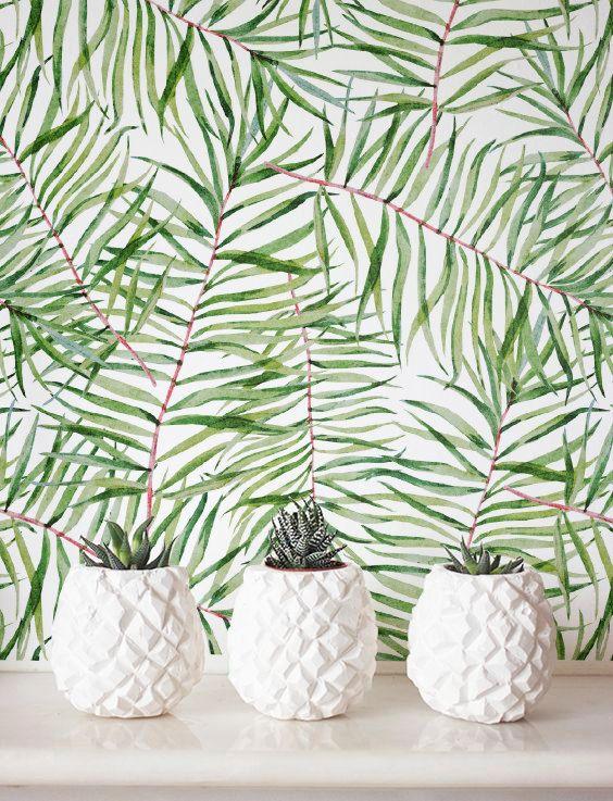 Les 25 meilleures id es de la cat gorie feuille autocollante sur pinterest jungle wallpaper - Couper papier peint sans dechirer ...
