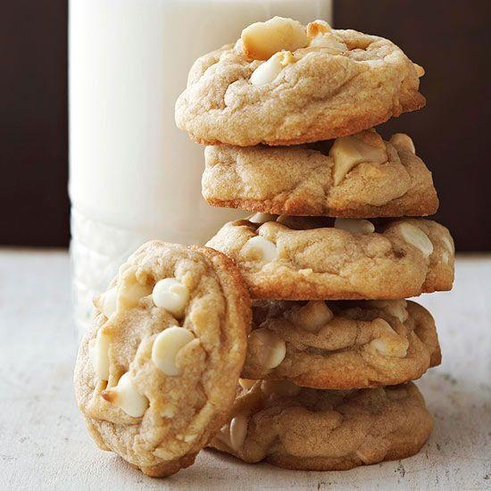 Macadamia Nut and White Chocolate Chip Cookies
