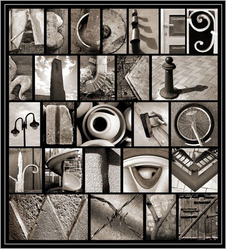 I want to go around town and find my own alphabet!