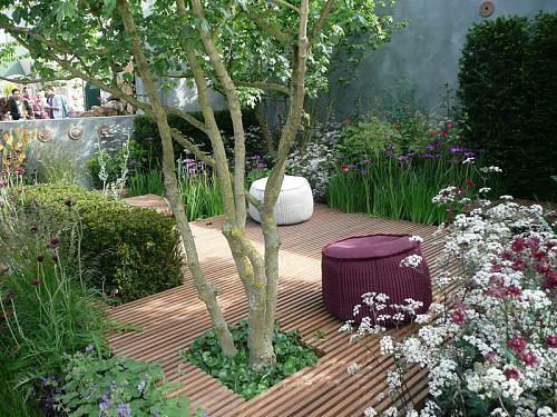 Great kleine urbane Garten Designs fu boden holz hocker