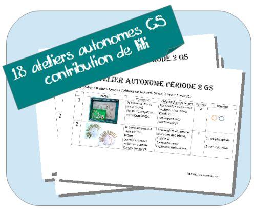 Ateliers Autonomes Période 2 MS-GS Lili