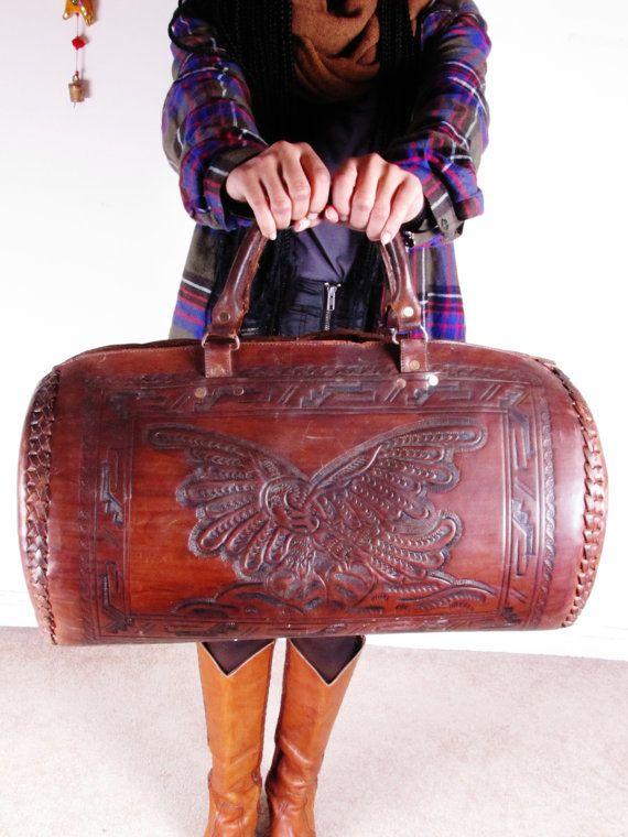 Vintage Mexican Tooled Mayan Calender American by stellahsgroove