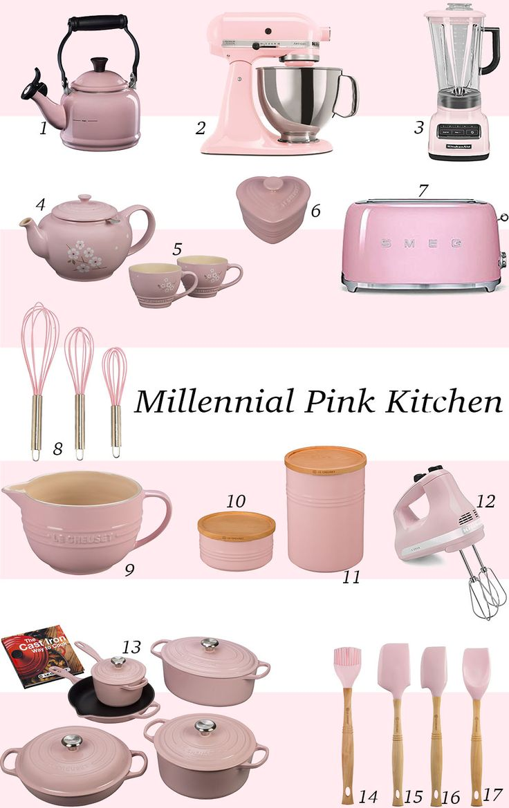 millennial pink kitchen decor and finds