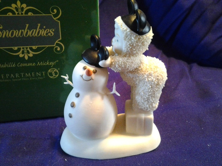 Snowbabies Be Like Mickey Too Collectible Figurine Dept 56 w/box mouse | eBay $9.99: 56 Snowbabies, W Boxes Mouse, Dept 56, Figurines Dept, Collection Figurines, Wbox Mouse, Snowbabies Collection, 56 Wbox, Snowbabies Figurines