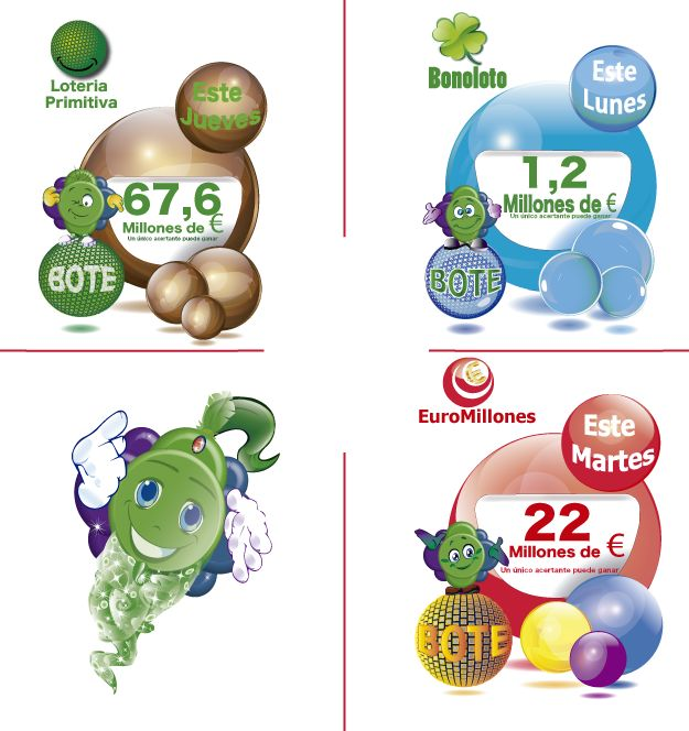 Botes de las Loterias para la próxima semana...!! Juega y gana con nosotros en http://www.sortxxl.com/