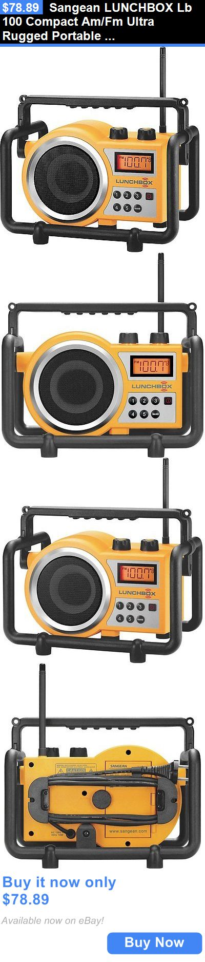 Portable AM FM Radios: Sangean Lunchbox Lb 100 Compact Am/Fm Ultra Rugged Portable Radio Receiver New BUY IT NOW ONLY: $78.89