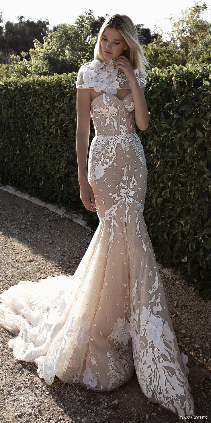 idan cohen bridal 2017 strapless sweetheart mermaid wedding dress (emily mercedes) fv capelet