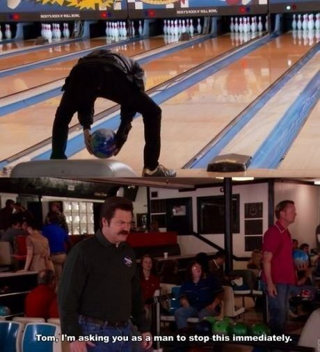 "He's not very athletic. | Community Post: 20 Signs You Are Basically Tom Haverford From ""Parks And Recreation"""