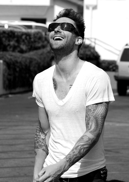 Adam Levine. His tattoos tho <3