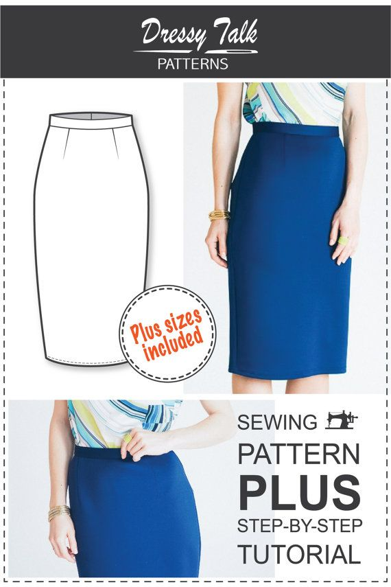 Pencil Skirt Pattern  Skirt Patterns  Sewing Tutorials