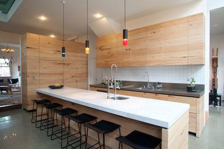 Love the counter space! by Nest: Clarks Kitchen, Beau Kitchen, Nests, Kitchen Ideas, Timber Kitchens, Ad S Kitchen, Nestarchitects Com Au