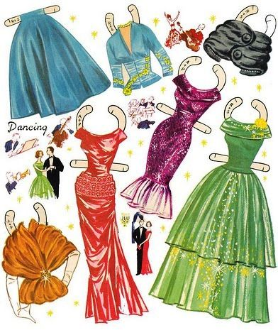 Modern Miss 1950s Paper Doll Clothes