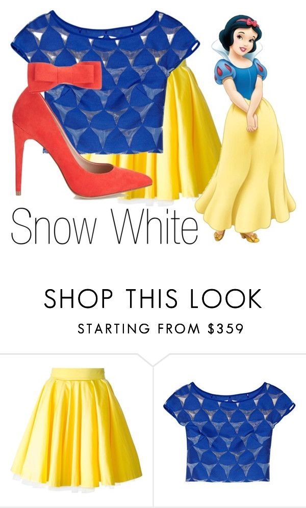 """""""Snow White~ DisneyBound"""" by basic-disney ❤ liked on Polyvore featuring Philipp Plein, Milly and Miss Selfridge"""