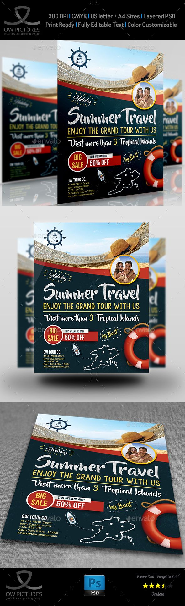 290 best travel flyer print template psd images on pinterest