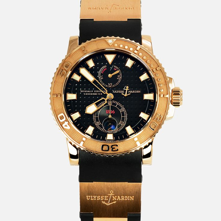 Ulyse Nardin Maxi Marine Diver Chronometer 18K Rose Gold 266-33-3a/92 - NeoFashion