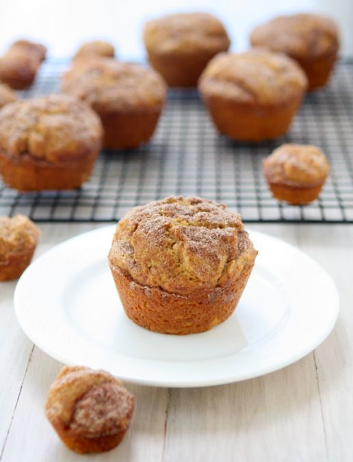 """Cinnamon-Sugar Pumpkin Muffins... I wonder if this is the recipe I used for my """"labor day muffins"""" as my 10 year old referred to them!"""