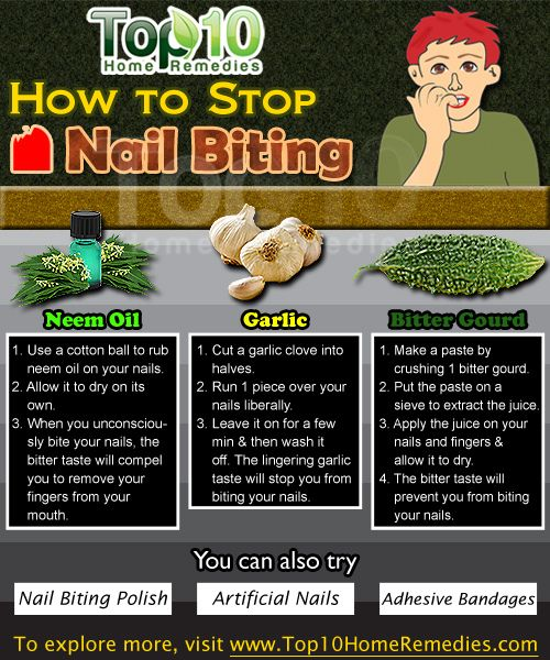 You can stop the habit of nail biting using these home remedies. Use a cotton ball to rub neem oil on your nails. Allow it to dry on its own. When you unconsciously bite your nails, the bitter taste will compel you to remove your fingers from your mouth. #nailbiting #homeremedies