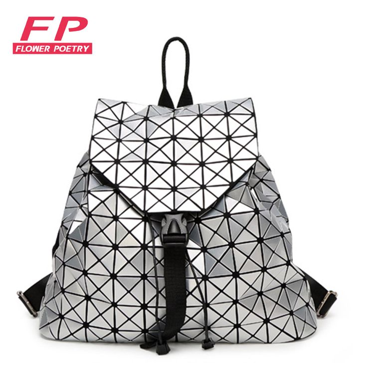 Fashion Women Drawstring Backpack Diamond Lattice Geometry Quilted Ladies Backpack Sac Bag For Teenage girl Bao Bao School Bags ** Offer can be found by clicking the image