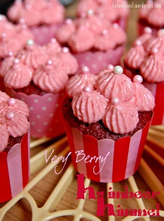 Himbeer-Himmel-Cupcakes Rezept eingesendet von: Anna-Maria von Kentzinsky  #Cupcake #Dessert