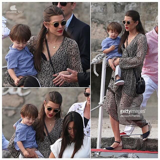 Charlotte Casiraghi and Gad Elmaleh in Italy for Charlotte's brother wedding.