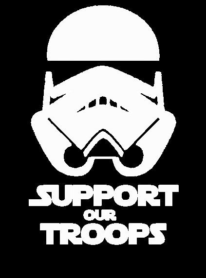 Storm Trooper Support Our Troops Star Wars Vinyl Decal
