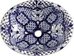 It's sooo pretty.  Vila Nova - Mexican Talavera Oval Drop- in Sink
