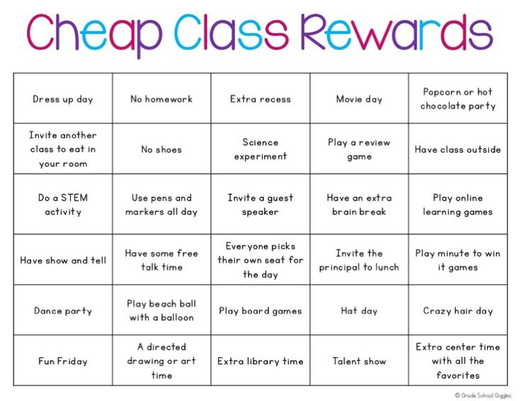 Sometimes incentives can provide just the motivation kids need to work hard to reach a goal or improve their behavior. Are you looking for ideas cheap and easy student rewards that kids will love? If so these ideas are awesome and most are free, non-food rewards too! There are 30 ideas for individual rewards and 30 ideas for whole class rewards.