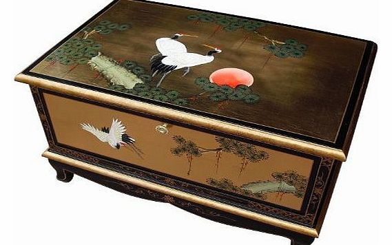 China Warehouse Direct Oriental Chinese Furniture - Gold Leaf TV Unit with Cranes Design **Please note that extra delivery charges may apply to Ireland, Highlands and off shore location, please enquire if delivery is to these areas.** (Barcode EAN = 8421801245001). http://www.comparestoreprices.co.uk/oriental-furniture/china-warehouse-direct-oriental-chinese-furniture--gold-leaf-tv-unit-with-cranes-design.asp