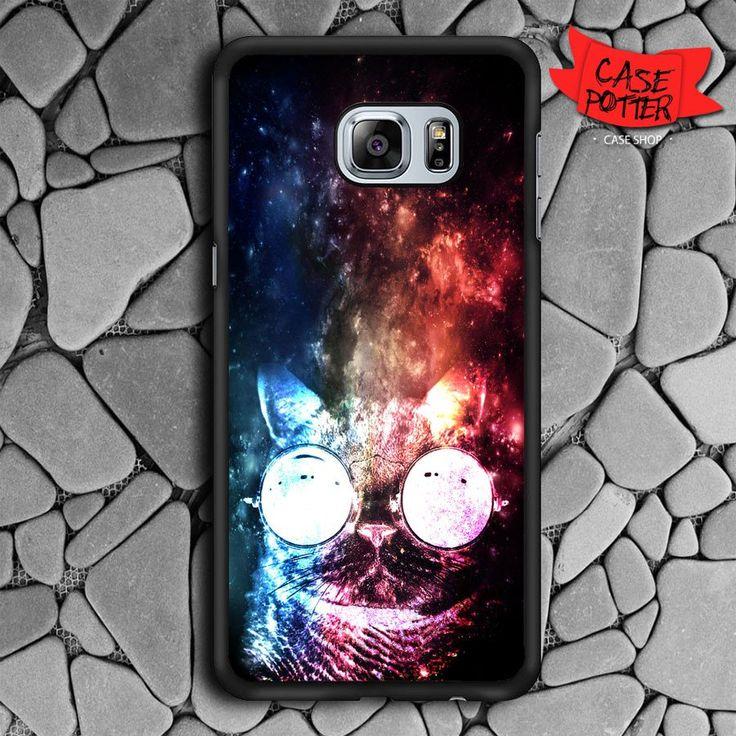 Invisible Cat In Galaxy Samsung Galaxy S6 Edge Plus Black Case