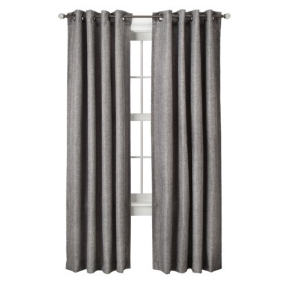Target - gray basketweave curtains $27.99 this is the perfect fabric to make the charcoal throw pillows I've been dreaming of!!!