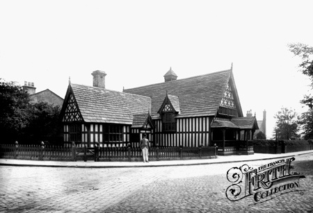 Worsley Court House, 1889 ~ the court house itself looks exactly the same now as it did over 100 years ago...but there is a large round-a-bout in front of it! :/)
