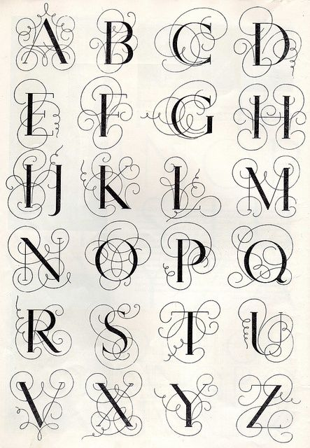 Monograms from 1950 embroidery #lettering #art #journal
