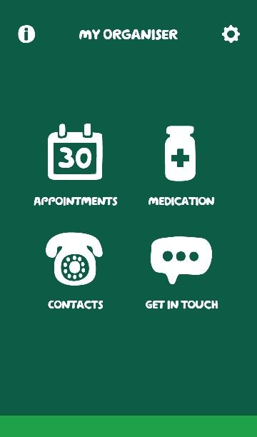 """I use """"my organiser"""" app from macmillan cancer support, free from the playstore. Great for remembering medications and appointments and you can import your important contacts too like your triage nurse, macmillan nurse, GP, palliative care nurse."""