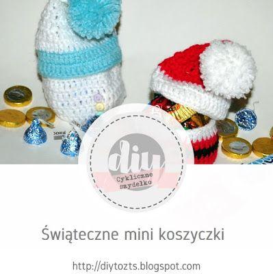#24 CYKLICZNE SZYDEŁKO - edycja VI - Świąteczne mini koszyczki #DIY #TUTORIAL #HANDMADE #SZYDEŁKO #KOSZYCZKI