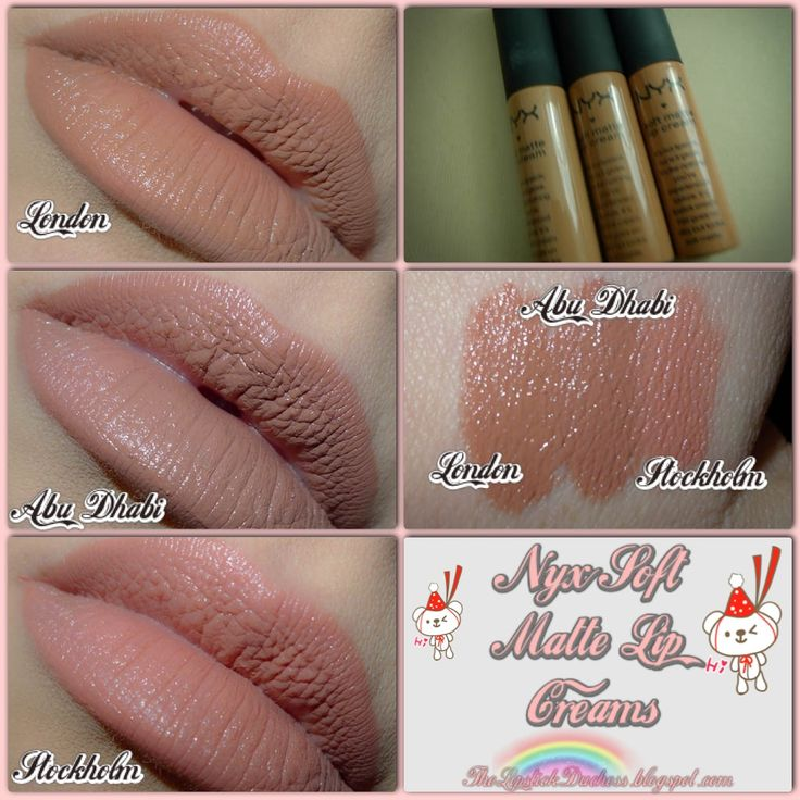 nyx matte lip cream london swatch - Google Search (London is the only nude that's worked for me so far)