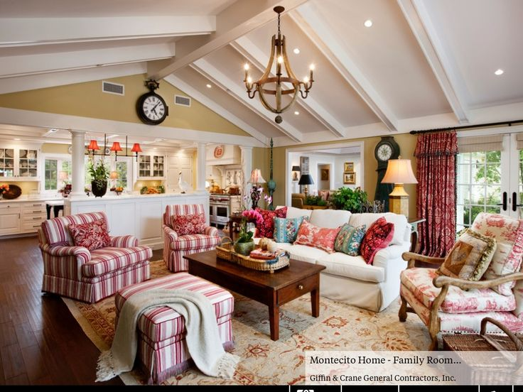 I love all the bright, peaceful tones in this country room.