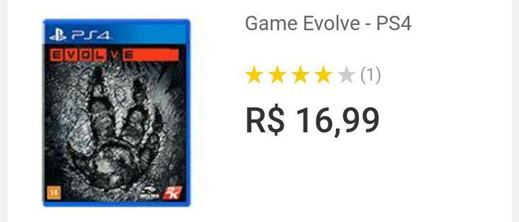 [SUB-DESOVA] Jogo Evolve PS4 17 reais + Frete (MP: b2b)