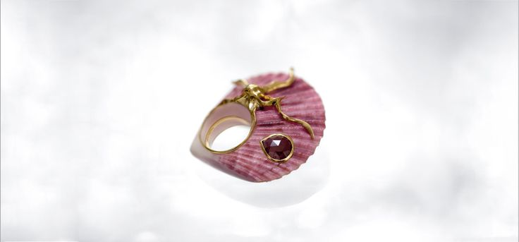 Shagreen et Tortoise Bague coquillage ring shell