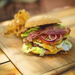 The famous Terrace Cheeseburger at The Local. Rated top 10 in Cape Town by Crush Online Mag.