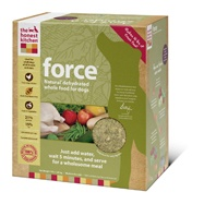 The Honest Kitchen  Force is a complete and balanced dehydrated dog food made with free-range chicken, fruits, vegetables and love